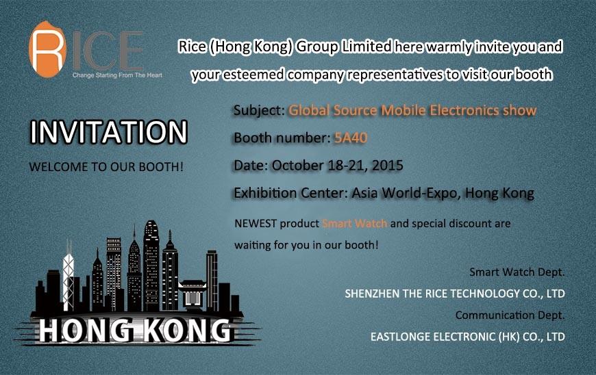 10/18/2015 globale Quellbewegliches Elektronik-Zeigung in Hong Kong
